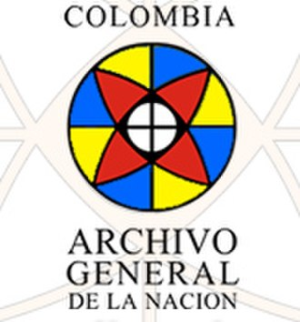 General Archive of the Nation (Colombia) - Image: Logo Archivo General de la Nación