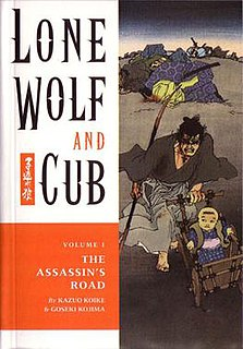 <i>Lone Wolf and Cub</i> 1970–1976 manga about a rōnin assassin and his baby