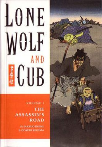 Lone Wolf and Cub - Cover art by Frank Miller of Lone Wolf and Cub vol. 1 (English version)