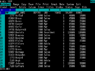 Lotus 1-2-3 - Lotus 1-2-3 Release 3.0 for MS-DOS