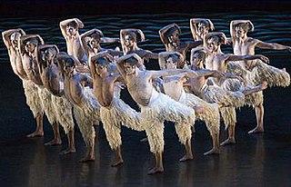 <i>Swan Lake</i> (Bourne) ballet choreographed by Matthew Bourne