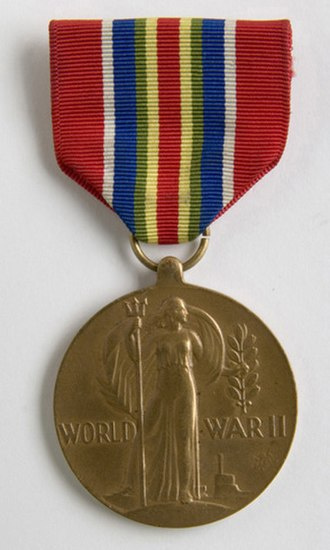 Awards and decorations of the United States Merchant Marine - Image: Merchant Marine World War II Victory Medal