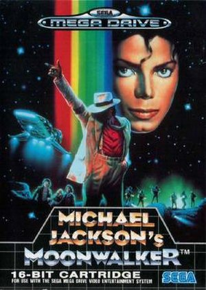 Michael Jackson's Moonwalker - Front cover of the European Mega Drive version.