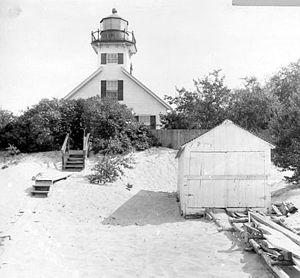 Mission Point Light -  Vintage image of the Station