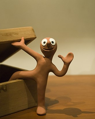 Morph (animation) - A model of the main character, Morph on display at the National Media Museum, Bradford