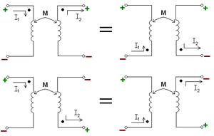 Polarity (mutual inductance) - Image: Mutual inductance
