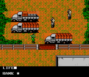 Metal Gear (video game) - The level designs were altered for the NES version, which includes an extensive outdoor sequence prior to reaching the first building.