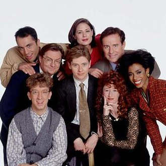 NewsRadio - The cast of NewsRadio, Seasons 1 to 4.