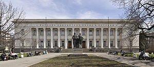 SS. Cyril and Methodius National Library - A front view of the library building designed by Vasilyov-Tsolov