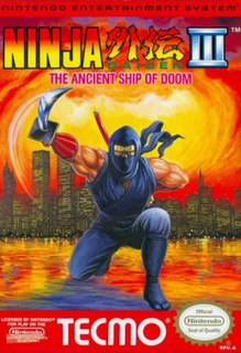 <i>Ninja Gaiden III: The Ancient Ship of Doom</i> 1991 NES game