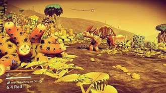 No Man's Sky - No Man's Sky allows players to explore planets with procedurally generated flora and fauna