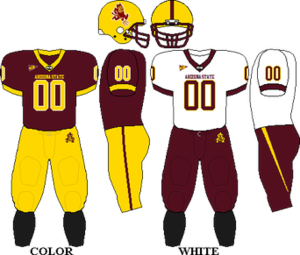 2005 Arizona State Sun Devils football team - Image: Pac 10 Uniform ASU 2004 2007