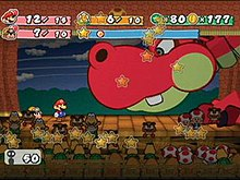 Paper mario the thousand year door wikipedia mario and goombella battle hooktail the games first major boss mightylinksfo
