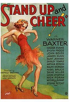 Poster of the movie Stand Up and Cheer!.jpg