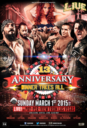 ROH 13th Anniversary Show - Official promotional poster for the ROH 13th Anniversary PPV.