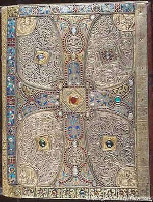 Lindau Gospels - The lower cover, mostly 8th century