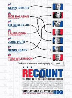 <i>Recount</i> (film) 2008 television film directed by Jay Roach