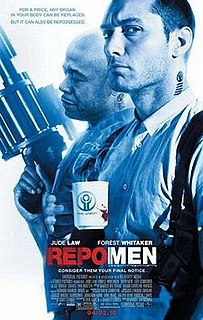<i>Repo Men</i> 2010 film by Miguel Sapochnik