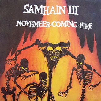 Box Set (Samhain album) - Front cover for November-Coming-Fire (1986) by Samhain.