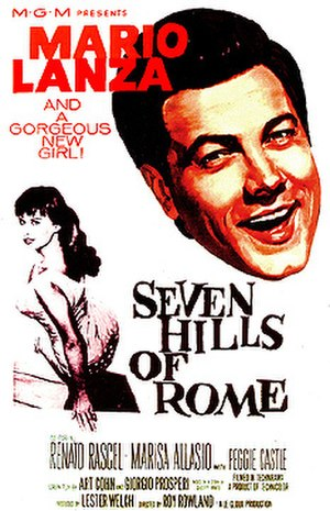 Seven Hills of Rome (film) - Theatrical poster for the USA release
