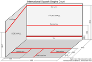 International Squash Singles Court, as specified by the World Squash Federation