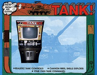 Tank (video game) - Advertising flyer for the game, featuring the original cabinet design