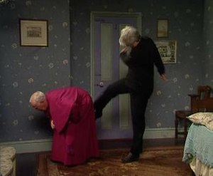 Kicking Bishop Brennan Up the Arse - Image: Ted kicks Bishop Brennan