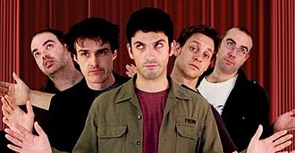 The Chaser's Age of Terror Variety Hour - The Chaser members in a promotional picture for the stage show. (Left to Right) Dominic Knight, Andrew Hansen, Chas Licciardello, Craig Reucassel, and Julian Morrow. It is the second stage show The Chaser has performed.
