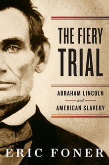 Cover of The Fiery Trial; featured is Abraham Lincoln