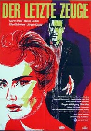 The Last Witness (1960 film) - Film poster