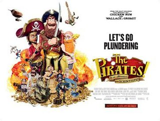 <i>The Pirates! In an Adventure with Scientists!</i> 2012 animated adventure film directed by Peter Lord