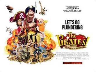 The Pirates! In an Adventure with Scientists! - British theatrical release poster