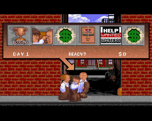 The Three Stooges (video game) - Players must select a minigame to complete for each in-game day.