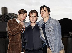 Traveler (TV series) - The main cast of Traveler. From left to right: Logan Marshall-Green, Aaron Stanford and Matt Bomer.