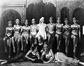 "University of Florida Digital Collections - A photograph titled ""11 Women in costumes"" (1930s) from the University Archive Photo Collection, one of the collections in UFDC."