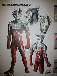 Ultraseven Ax The Initial Draft Of Ultraman Zero As P Ographed In A Special Event In Tokyo Dome City During
