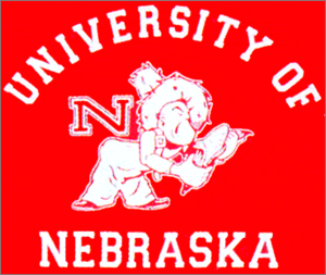 1956 Nebraska Cornhuskers football team - Image: University of Nebraska Logo 1956 1961