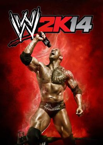 WWE 2K14 - Cover art featuring The Rock
