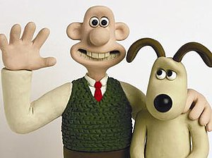 Wallace and Gromit - Wallace (left) and Gromit (right)