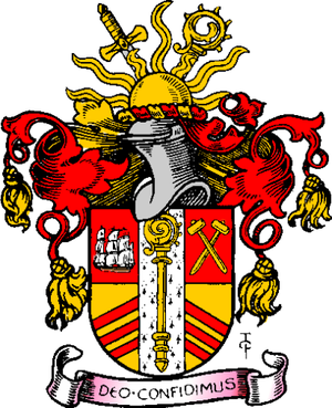 Stratford Langthorne Abbey - Arms of the County Borough of West Ham.