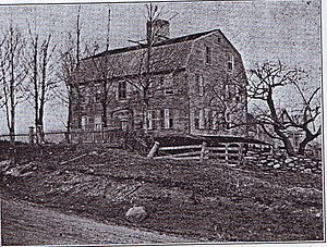 William West (Rhode Island politician) - William West's house in Scituate, Rhode Island, built in 1775