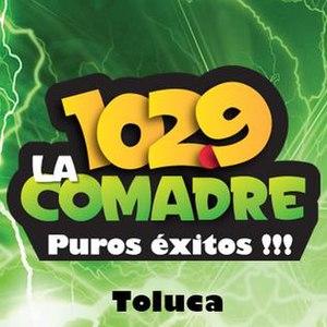 XHTOL-FM - Image: XHTOL Lacomadre 102.9 logo