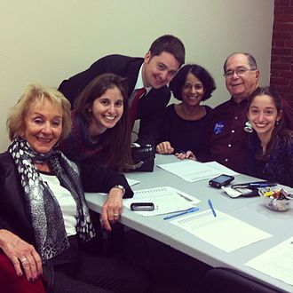 Josh Zakim - Zakim family on Boston Election Day in 2013