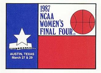 1987 NCAA Division I Women's Basketball Tournament - Image: 1987Womens Final Four Logo