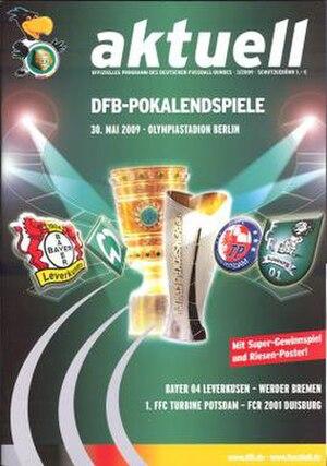 2009 DFB-Pokal Final - Image: 2009 DFB Pokal Final programme