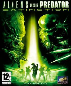 Aliens Versus Predator: Extinction - Image: Aliens Versus Predator Extinction Cover