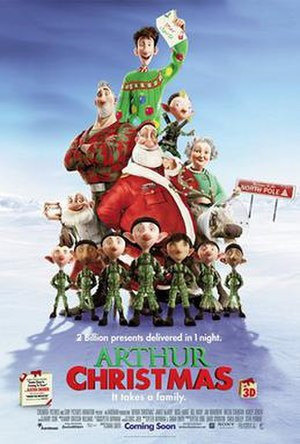 Arthur Christmas - Theatrical release poster