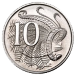Australian ten-cent coin - Image: Australian 10c Coin