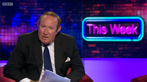 This Week (BBC TV series) - Andrew Neil presenting an edition of the programme