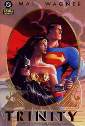 Batman/Superman/Wonder Woman: Trinity - Cover of Trinity HC. Art by Matt Wagner.